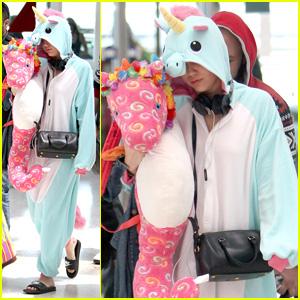 Miley Cyrus Dons Unicorn Onesie as She Finishes Bangerz Tour