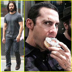 Milo Ventimiglia Sports Fake Tattoos, Scruffy Beard, & Long Hair For 'The Whispers'
