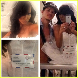 Naya Rivera Dresses as Mail Order Bride for Halloween 2014!