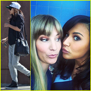 Naya Rivera Shares Cute Behind-the-Scenes Brittana Photo