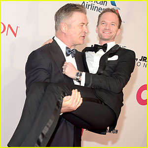 Neil Patrick Harris Gets Carried By Alec Baldwin at Elton John Benefit
