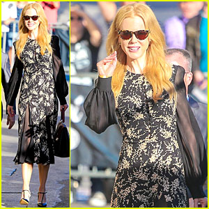Nicole Kidman's Classy Appeal Attracts a Crowd at 'Jimmy Kimmel Live'