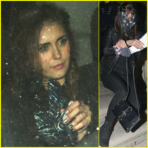 Nina Dobrev Keeps Her Costume Simple for First Halloween Party