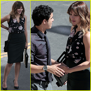 Off-Screen Couple Katharine McPhee & Elyes Gabel Film Their Show 'Scorpion'