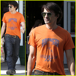 Olivier Martinez Supports the Denver Broncos Before Sunday Night Football Game!