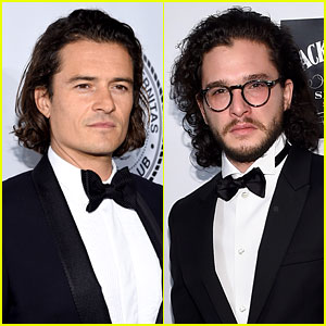 Orlando Bloom & Kit Harington Are Dapper Dudes in Bow Ties!