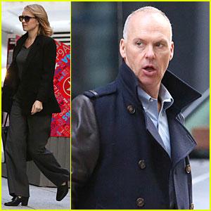 Rachel McAdams & Michael Keaton Take Care Of Business On 'Spotlight' Set