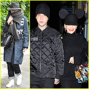 Rita Ora Wears Mickey Mouse Ears For Dinner Date With Boyfriend Ricky Hilfiger