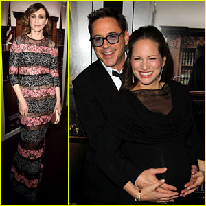 Robert Downey Jr. Holds Wife Susan's Baby Bump at 'The Judge' Premiere