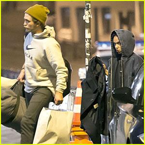 Robert Pattinson & FKA twigs Enjoy Shopping in Paris Together