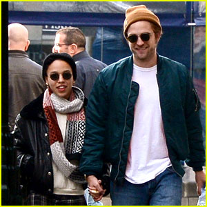 Robert Pattinson & FKA twigs Hold Hands & Look So Happy!