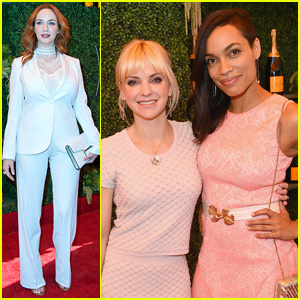 Rosario Dawson & Anna Faris Make it a Girls' Day at Polo Classic