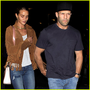 Rosie Huntington-Whiteley Holds Hands with Her Man Jason Statham on Their Date Night