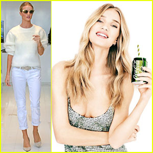 Rosie Huntington-Whiteley Looks Happy To Drink Coca-Cola Life