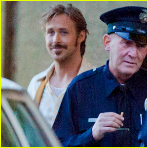 Ryan Gosling Looks Really Happy on Set After Baby's Birth!