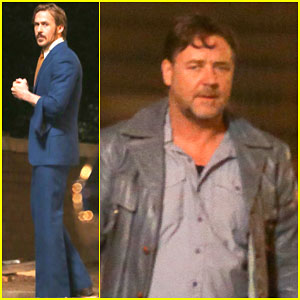 Ryan Gosling Spends His Halloween Filming with Russell Crowe