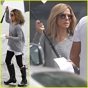 Sandra Bullock Rocks Blonde Hair For 'Our Brand Is Crisis'!