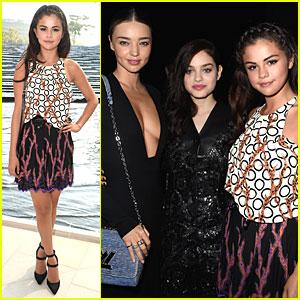 Selena Gomez Meets Up With Miranda Kerr at Louis Vuitton Show