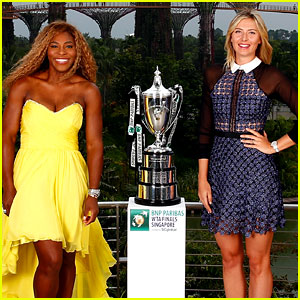 Serena Williams & Maria Sharapova Glam Up in Singapore with Tennis' Best Ladies