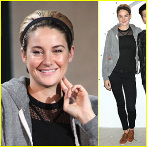 Shailene Woodley Makes a Casual Arrival at AOL's Build Speaker Series