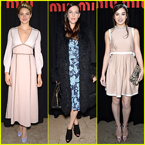 Shailene Woodley & Liv Tyler Sit Front Row at Miu Miu Fashion Show