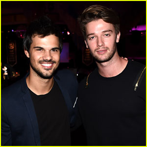 Taylor Lautner & Patrick Schwarzenegger Reunite at Hilarity for Charity!