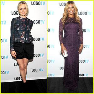 Taylor Schilling Supports Laverne Cox at 'The T Word' Premiere