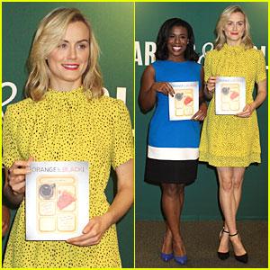 Taylor Schilling & Uzo Aduba Get Cooking at Barnes & Noble