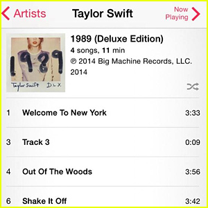 Taylor Swift's Track 3 Preview Off '1989' Features 9 Seconds of White Noise, Goes to #1 in Canada