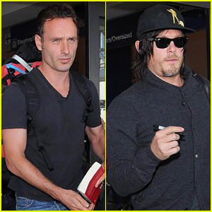 The Walking Dead's Andrew Lincoln & Norman Reedus Fly Into L.A. Ahead of Season 5!