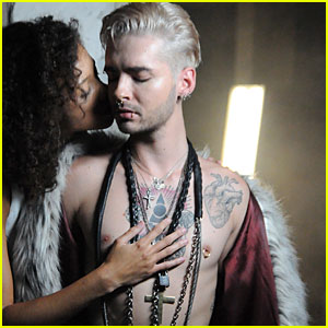 Tokio Hotel's Bill Kaulitz Goes Shirtless Sexy In New Exclusive Behind the Scenes Pics For 'Love Who Loves You Back' Music Video