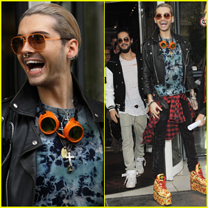 Tokio Hotel's Bill & Tom Kaulitz Visit Paris for 'Kings Of Suburbia' Promo!