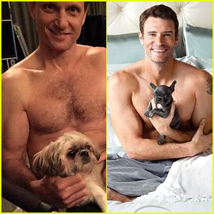 Scandal's Tony Goldwyn Goes Shirtless, Spoofs His Co-Star Scott Foley's 'Charisma' Ads!
