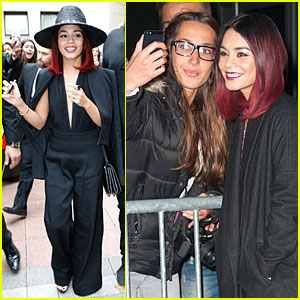 Vanessa Hudgens Takes the Plunge in Front of Parisian Fans