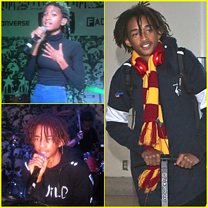Willow & Jaden Smith Show Off Their Musical Talents in NYC
