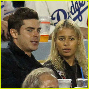 Zac Efron & Sami Miro Went to a Dodgers Game Last Month!