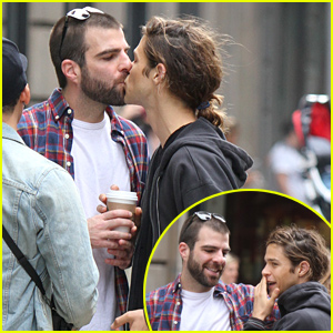 Zachary Quinto Plants a Kiss on Boyfriend Miles McMillan