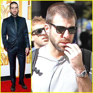 Zachary Quinto Goes Nerd Chic at 'It's Only a Play'