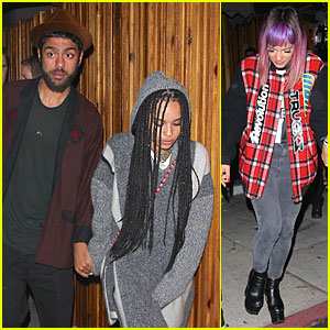 Zoe Kravitz & Noah Becker Hold Hands at Lily Allen's Concert After Party