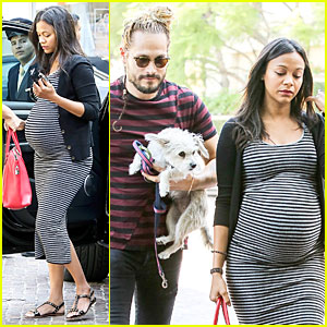 Pregnant Zoe Saldana's Growing Baby Bump Takes the Spotlight at Brunch