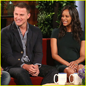 Pregnant Zoe Saldana Gets Schooled On Parenthood By Channing Tatum on 'Ellen' - Watch Now!