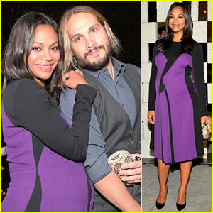 Zoe Saldana & Husband Marco Perego Are the Hammer Museum Gala's Cutest Couple!