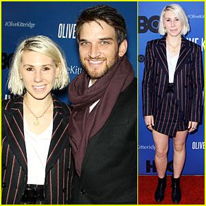 Zosia Mamet & Boyfriend Evan Jonigkeit Are Picture Perfect Couple at 'Olive Kitteridge' Premiere