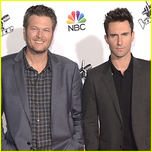 Adam Levine & Blake Shelton Are All About That 'Voice' at CityWalk Christmas Tree Lighting