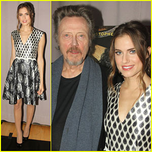 Allison Williams & Christopher Walken Take a Break from Rehearsals for a Meet & Greet