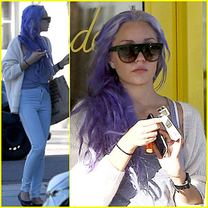 Amanda Bynes Shows Off Her New Purple Hair