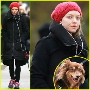 Amanda Seyfried Takes Dog Walk After Hanging with Taylor Swift