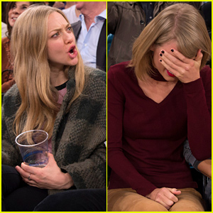 Taylor Swift, Amanda Seyfried, & Justin Long Went Through a Range of Emotions at the Knicks Game - Here's the Top 5 Action Shots!