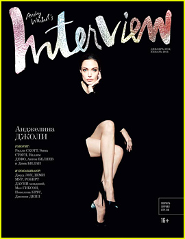 Angelina Jolie's Legs Are Front & Center For 'Interview Russia'!