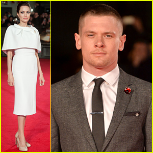 Angelina Jolie Supports Her Star Jack O'Connell at 'Unbroken' UK Premiere